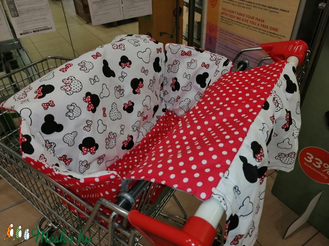 MINNIE Bevásárlókocsi huzat - Bevásárló kocsihuzat - játék & gyerek - 3 éves kor alattiaknak - bevásárlókocsi huzat - Meska.hu