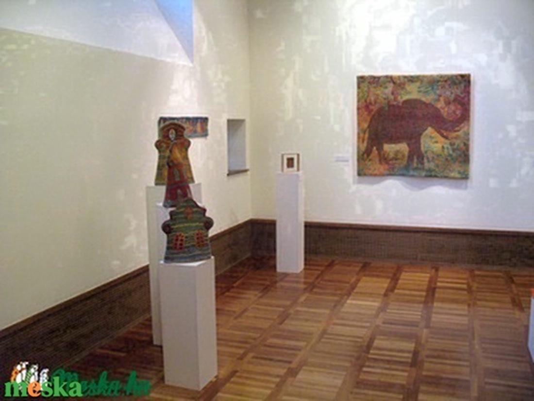 Még létezők I.   Afrikai elefánt, 126 x114 cm, nemez - művészet - festmény - festmény vegyes technika - Meska.hu