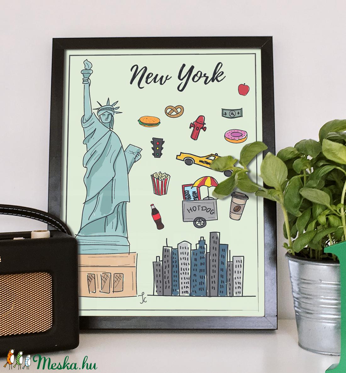 New York szimbólumai színesben (GraFont) - Meska.hu