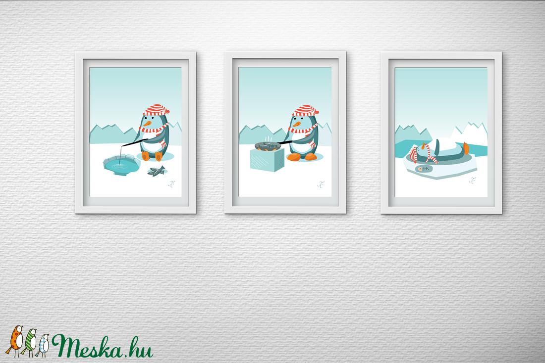 Gyerekszoba dekoráció - A pingvin ebédel (GraFont) - Meska.hu