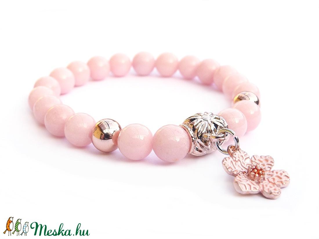 Rózsaszín álom  - rózsaarany karkötő (Gubancbolt) - Meska.hu