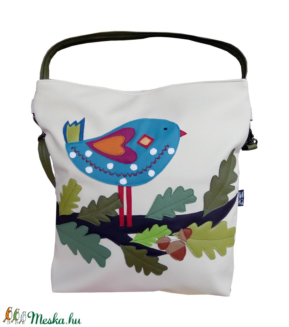 Tölgyes madaras táska (gubolyka) - Meska.hu
