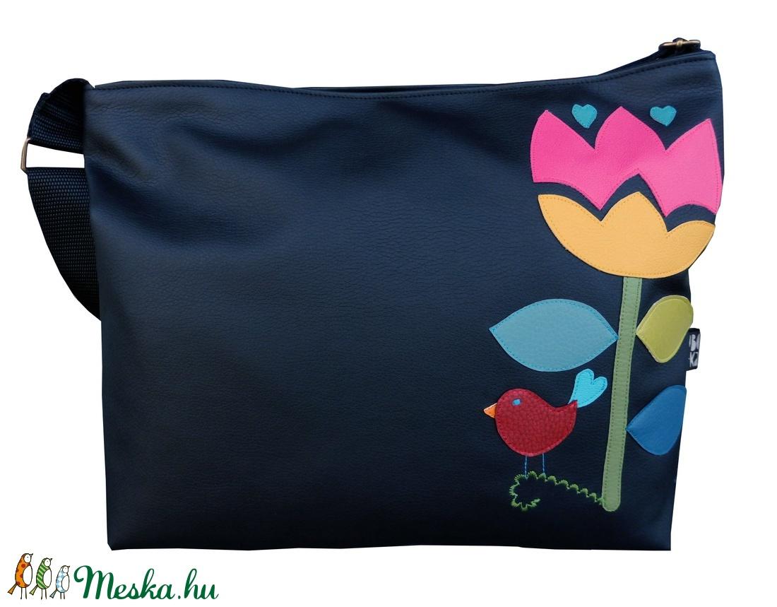 Tulipános, madaras táska (gubolyka) - Meska.hu