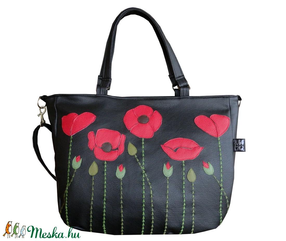 Pipacsos táska (gubolyka) - Meska.hu