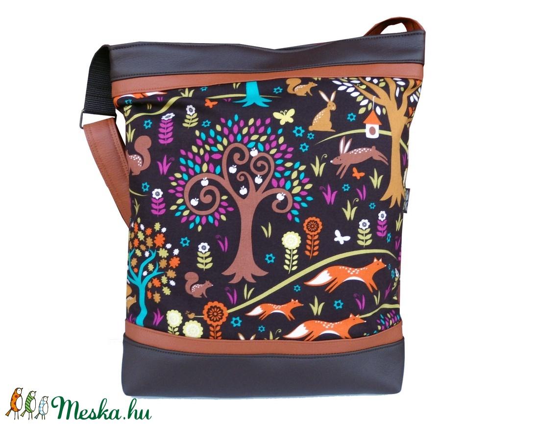 Rókás designer táska (gubolyka) - Meska.hu