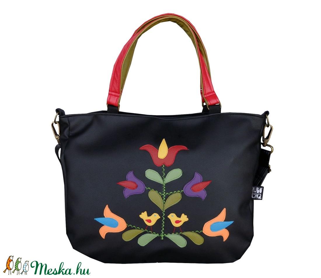 Madárkás, tulipános táska (gubolyka) - Meska.hu