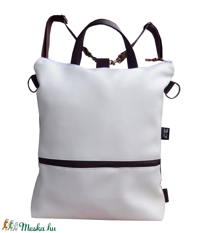 Fehér minimal hátizsák oldaltáska (gubolyka) - Meska.hu