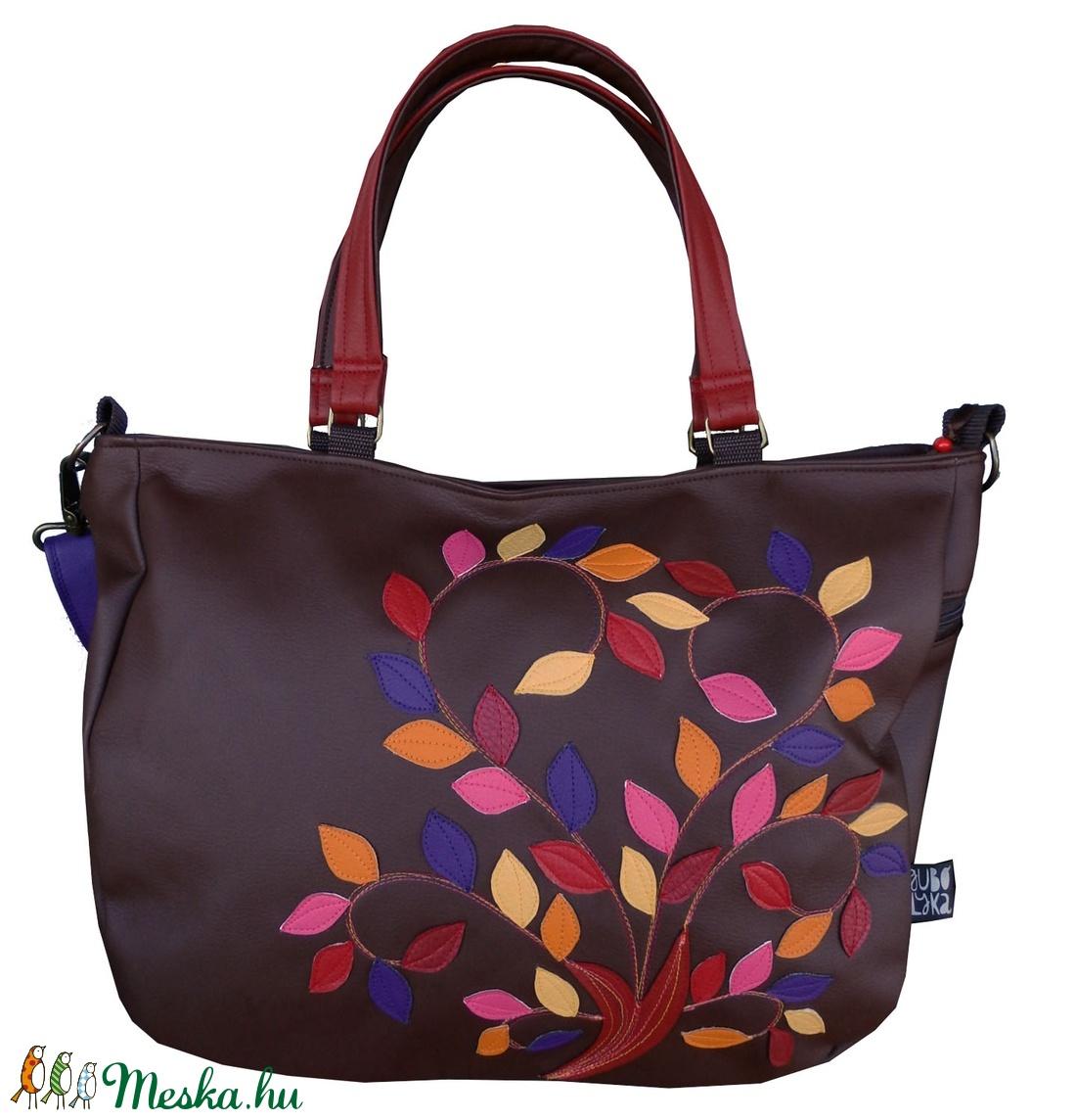 Őszi leveles pakolós táska (gubolyka) - Meska.hu