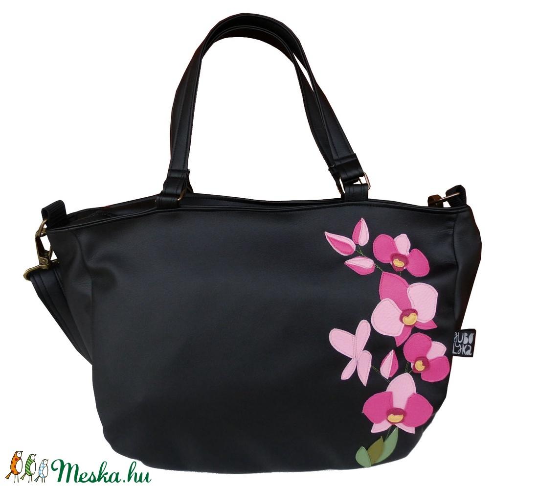 Orchideás pakolós táska (gubolyka) - Meska.hu