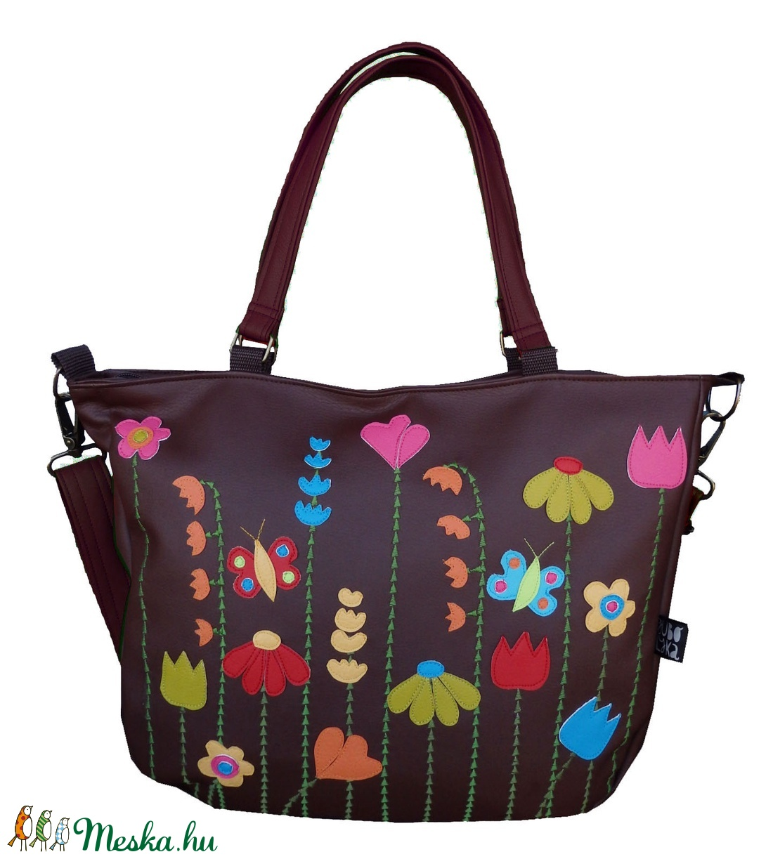 Virágos pakolós táska (gubolyka) - Meska.hu