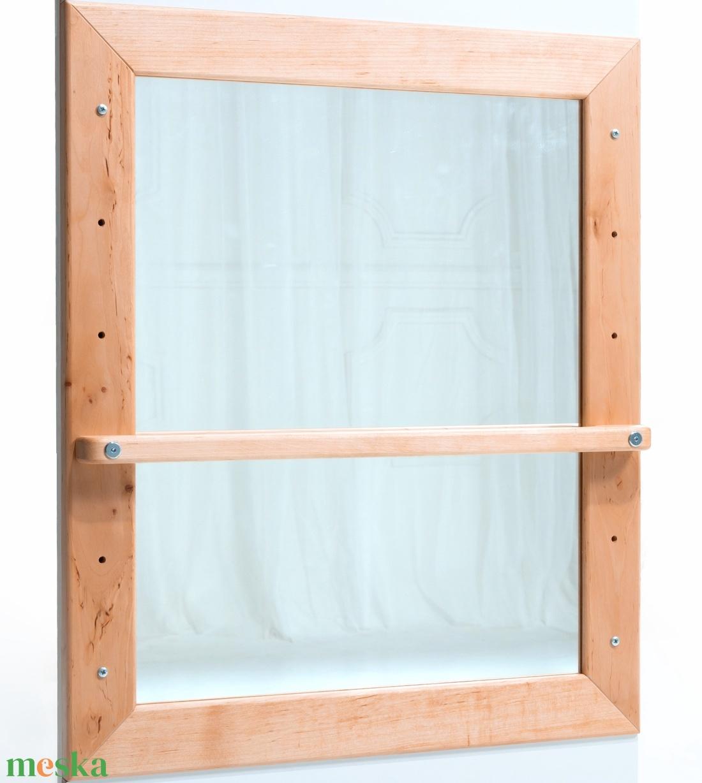 Montessori-tükör � Éger fából - játék & gyerek - készségfejlesztő & logikai játék - Meska.hu