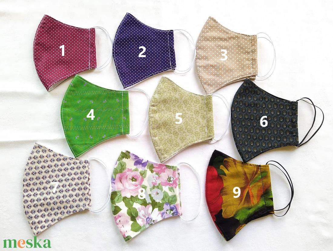 Kétrétegű, ívelt textil maszkok, különféle mintákkal - maszk, arcmaszk - férfi & uniszex - Meska.hu