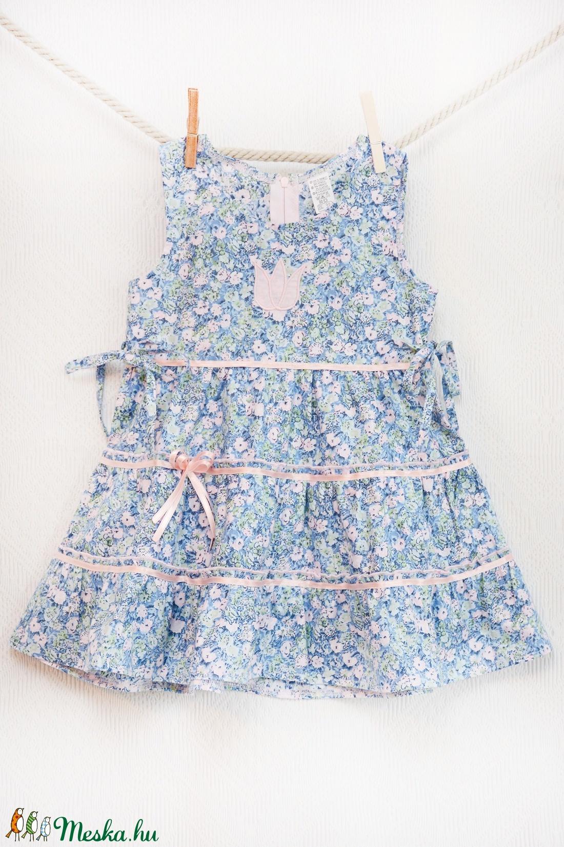 Kék-rózsaszín 110-140 apróvirágos nyári ruha (gyetomi) - Meska.hu 92c6f0e03b