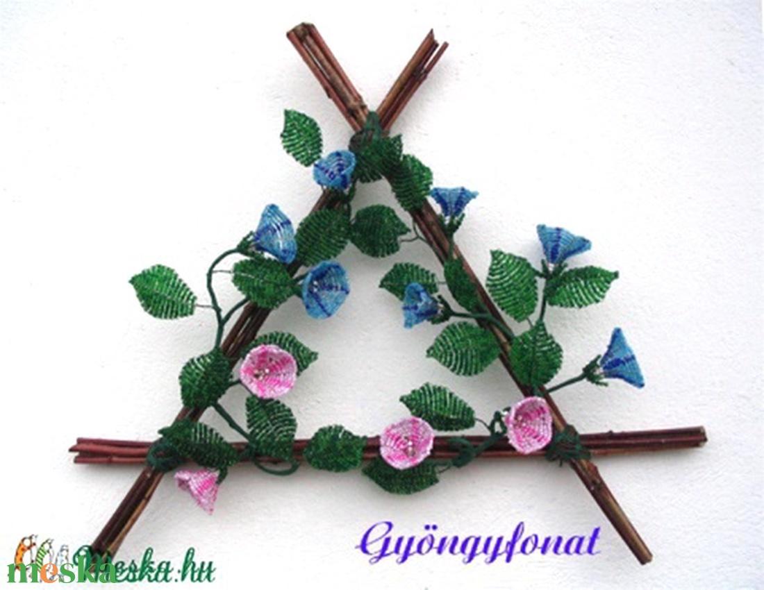 Vessző falikép gyöngyből, dekoráció, lakberendezés (gyongyfonat) - Meska.hu