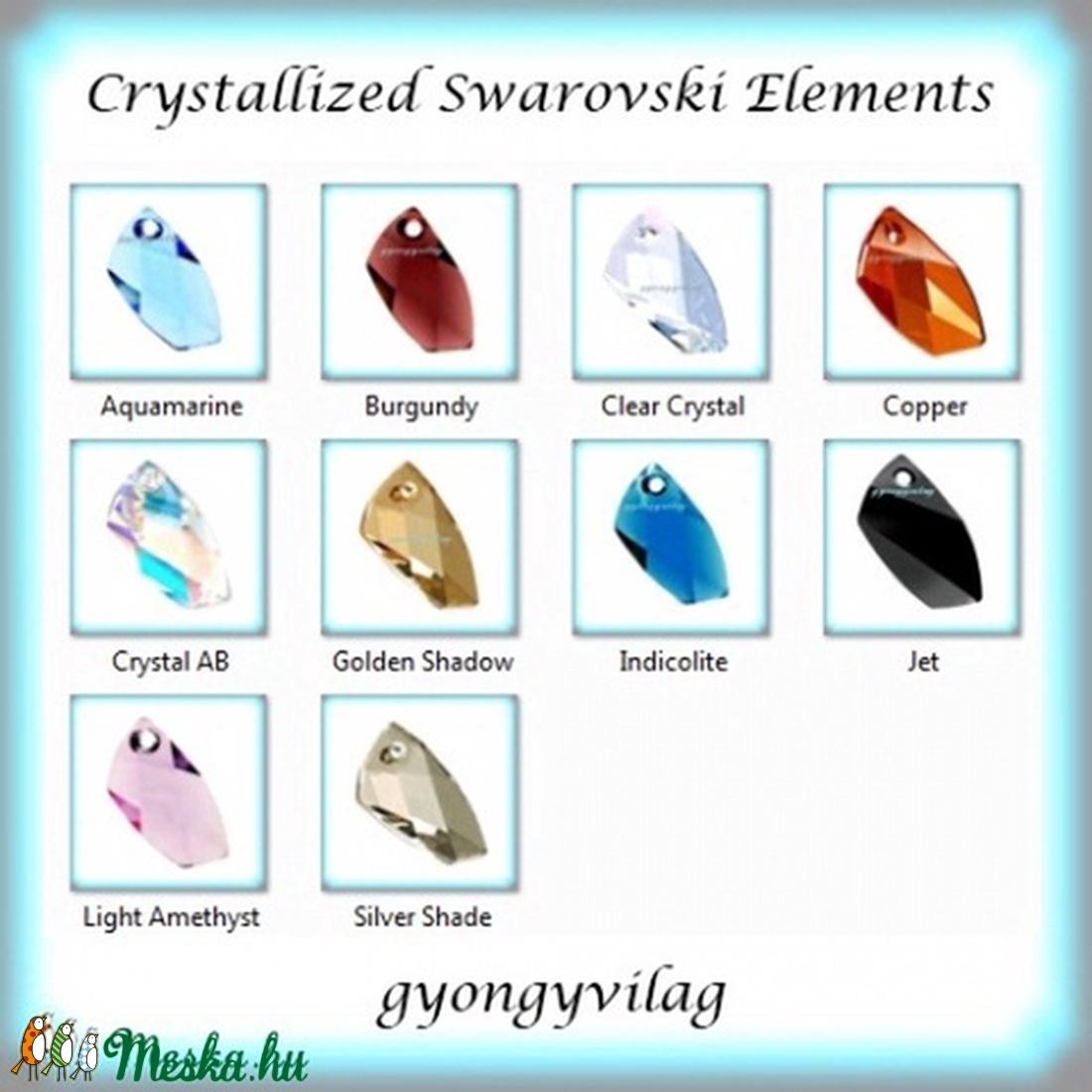 swarovski kristály avant-garde 30mm-es több színben  - gyöngy, ékszerkellék - swarovski kristályok - Meska.hu