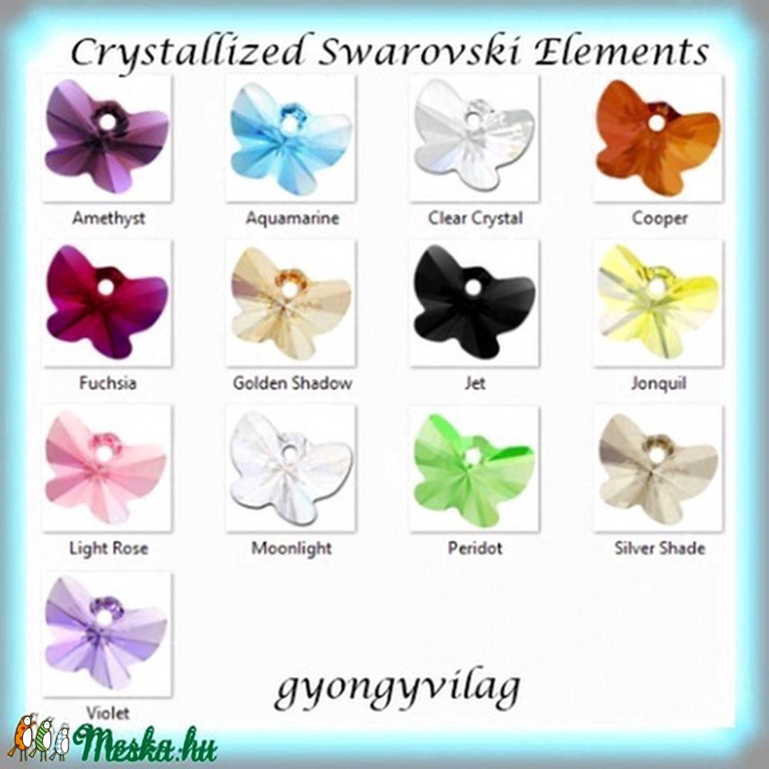 Ékszterkellék: Swarovski pillangó  18 mm-es több színben  - gyöngy, ékszerkellék - swarovski kristályok - Meska.hu