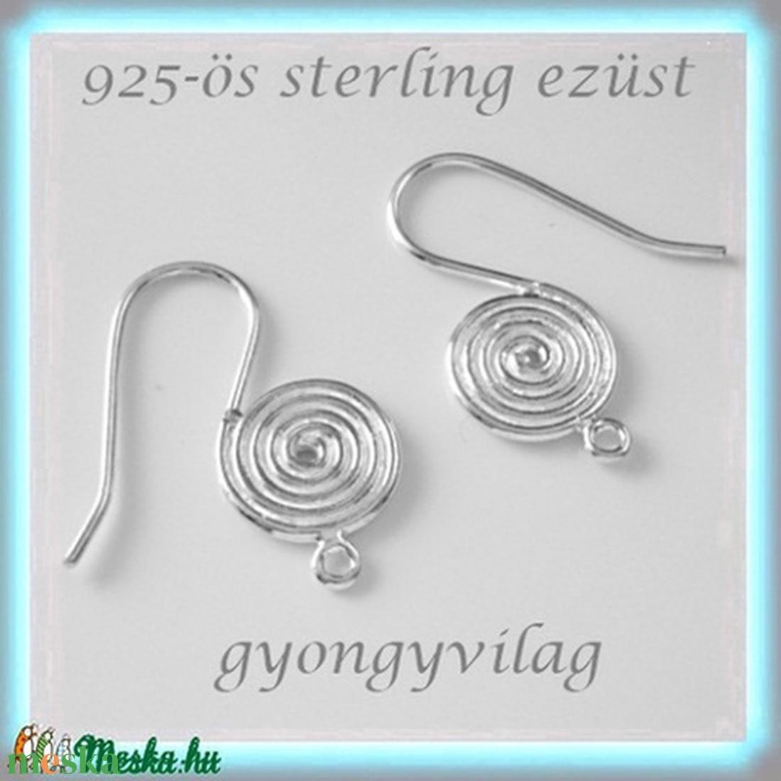 925-ös finomságú sterling ezüst fülbevaló kapocs EFK A 35 - gyöngy, ékszerkellék - egyéb alkatrész - Meska.hu