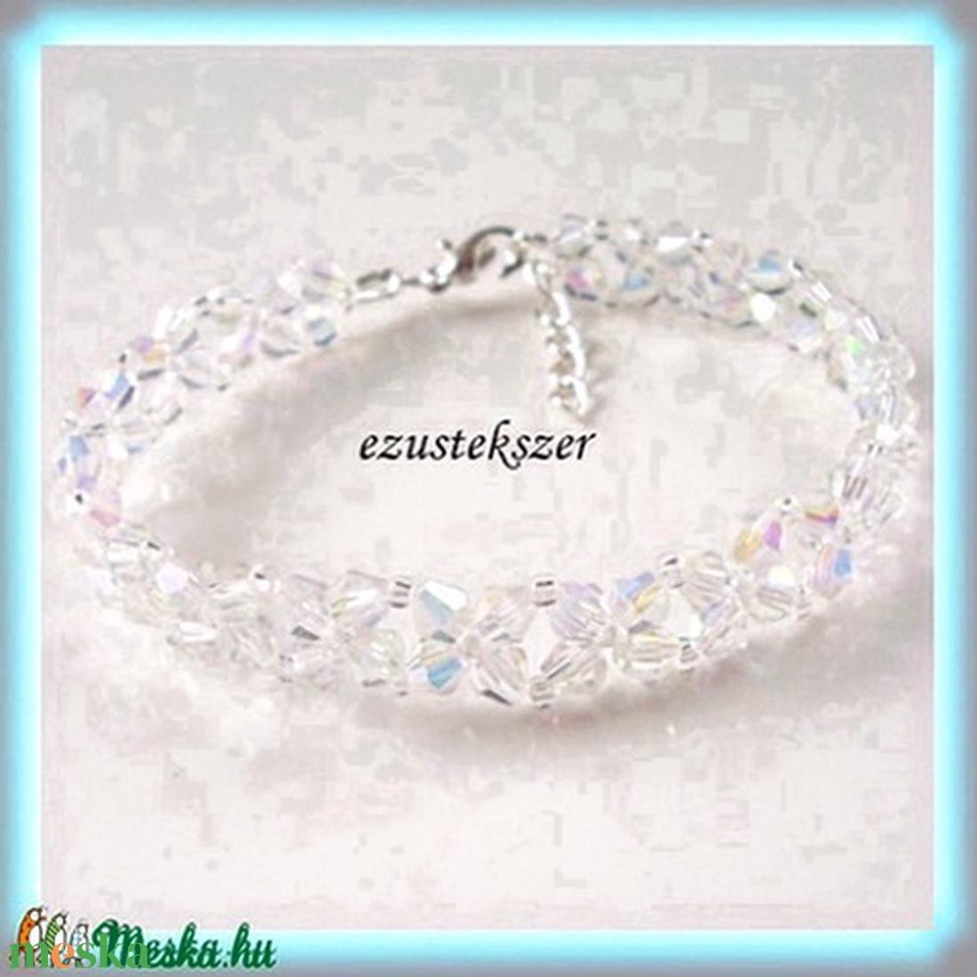 fűzött cseh kristály gyöngy karkötő SSZEB-K05-1 - ékszer - karkötő - gyöngyös karkötő - Meska.hu