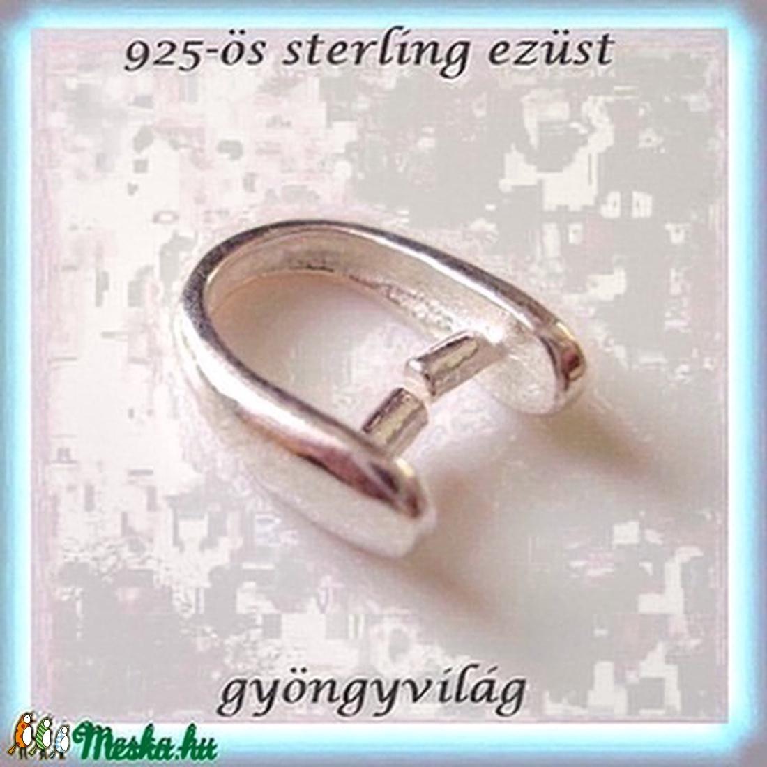 925-ös ezüst medálkapocs  EMK 12-1 - gyöngy, ékszerkellék - egyéb alkatrész - Meska.hu