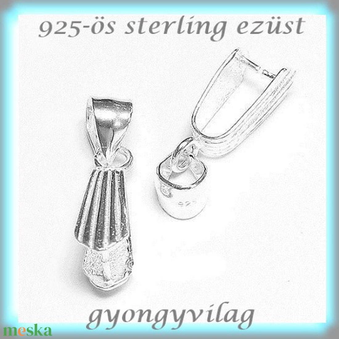 925-ös ezüst medálkapocs EMK 35 - gyöngy, ékszerkellék - swarovski kristályok - Meska.hu