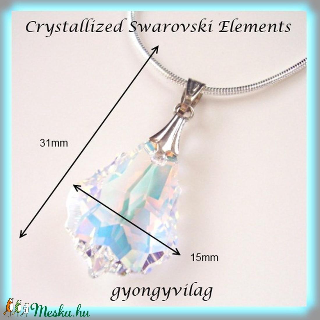 Swarovski kristály medál -22mm-es barokk  több színben  - ékszer - nyaklánc - medál - Meska.hu