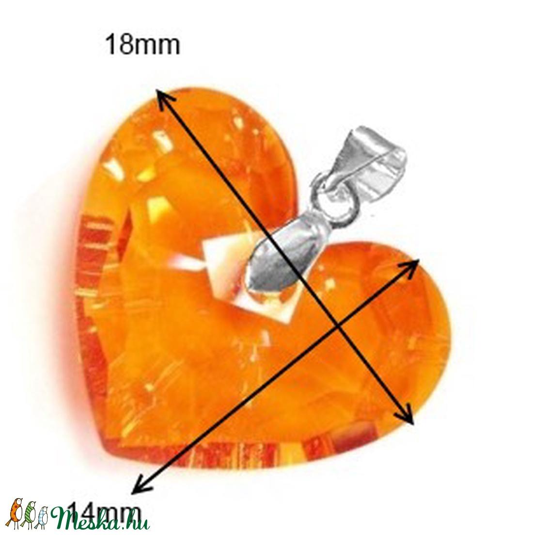 Swarovski kristály medál -18mm-es Truly in Love szív  több színben  - ékszer - nyaklánc - medál - Meska.hu