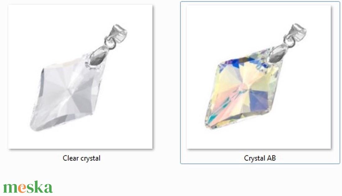 Swarovski kristály medál -19mm-es rhombus  több színben  - ékszer - nyaklánc - medál - Meska.hu