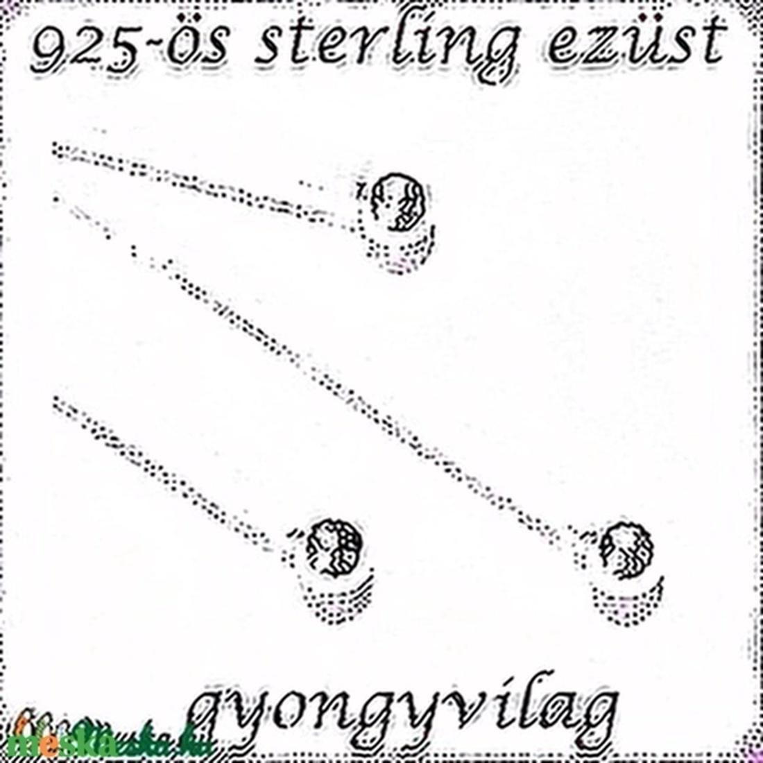 925-ös ezüst szerelőpálca gömb végű ESZP G 60x0,8  - gyöngy, ékszerkellék - egyéb alkatrész - Meska.hu