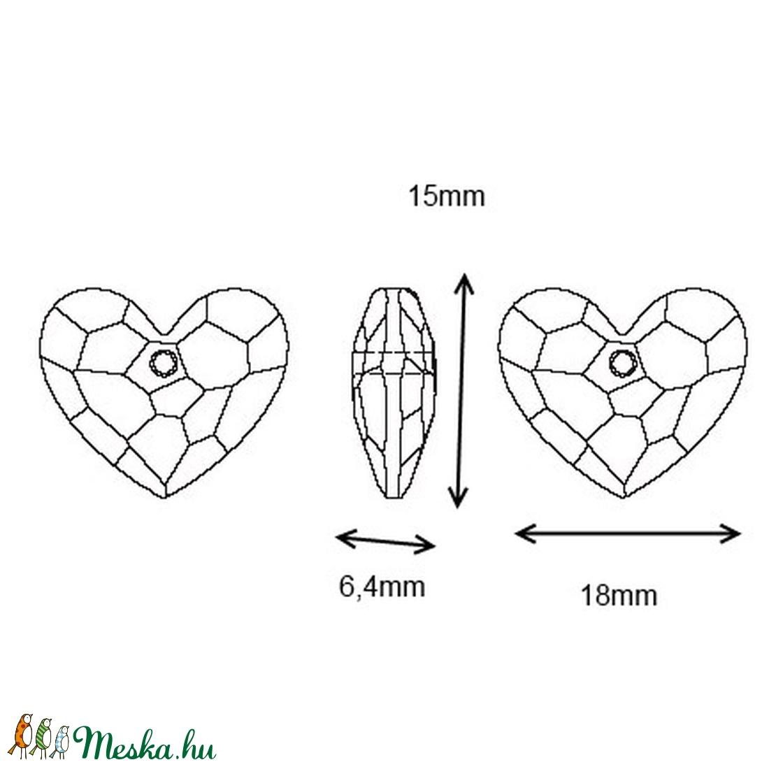 Swarovski Truly in Love szív18mm-es medál  SW6263-18 - gyöngy, ékszerkellék - swarovski kristályok - Meska.hu