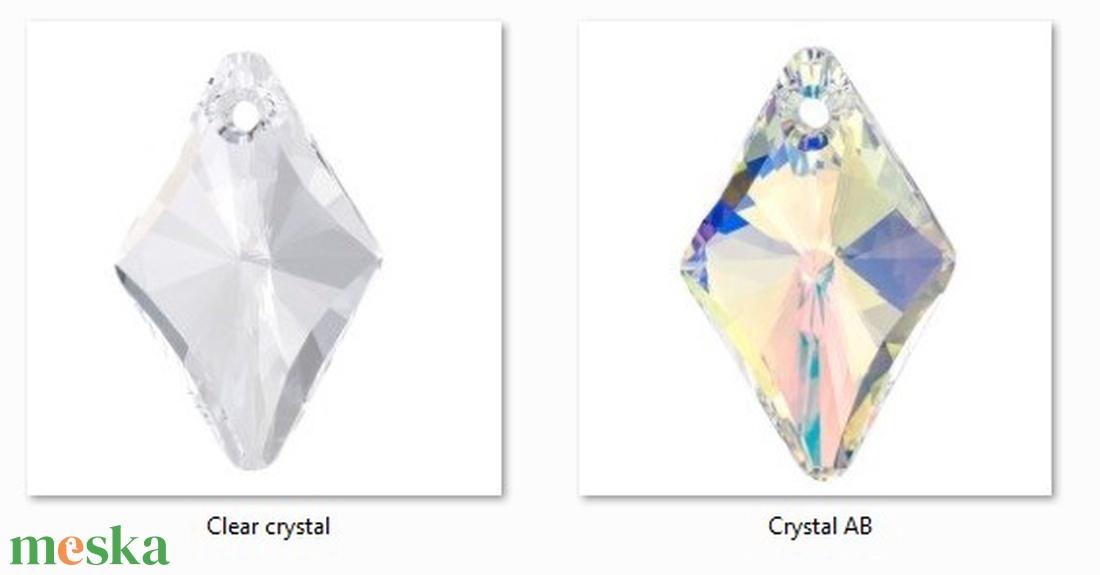 Swarovski rhombus 19mm-es medál több színben SW6320-19 - gyöngy, ékszerkellék - swarovski kristályok - Meska.hu