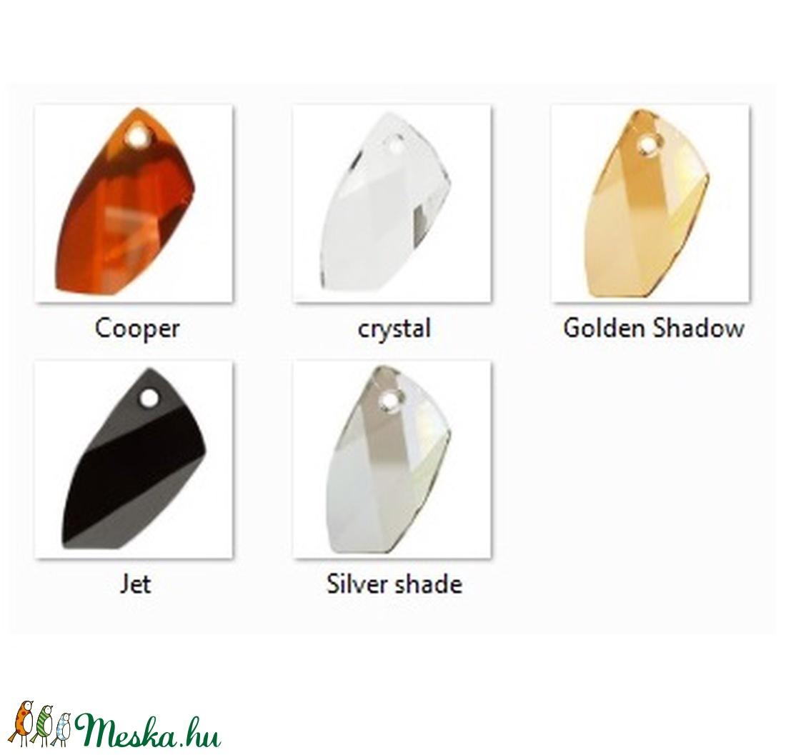 Swarovski kristály medál -30mm-es avant-garde  több színben  - ékszer - nyaklánc - medál - Meska.hu