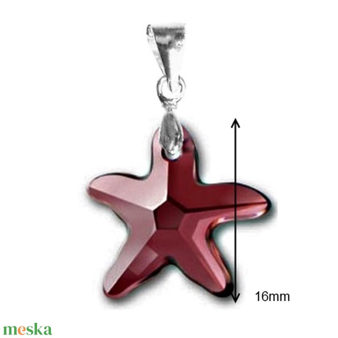 Swarovski kristály medál -16mm-es tengeri csillag több színben - ékszer - nyaklánc - medál - Meska.hu