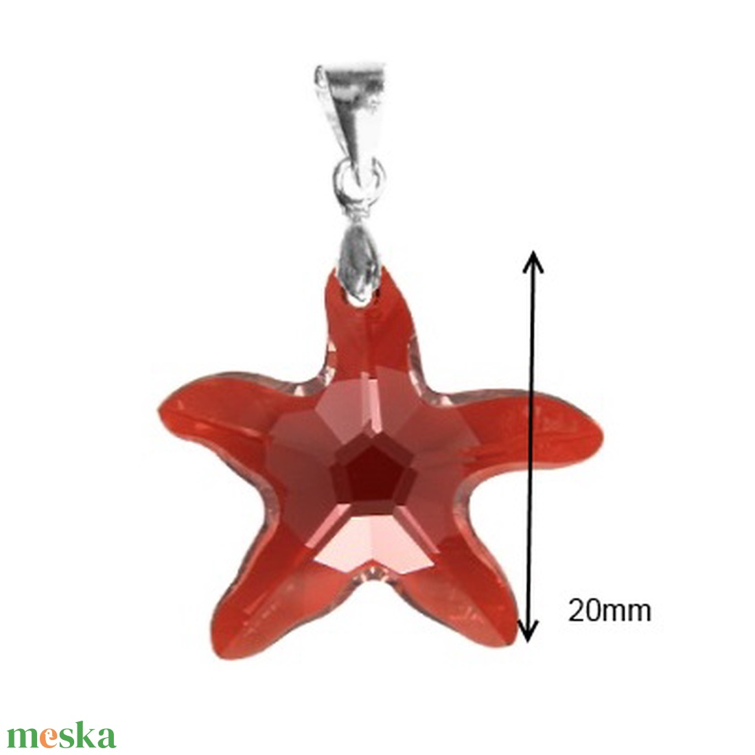 Swarovski kristály medál -20mm-es tengeri csillag több színben - ékszer - nyaklánc - medál - Meska.hu