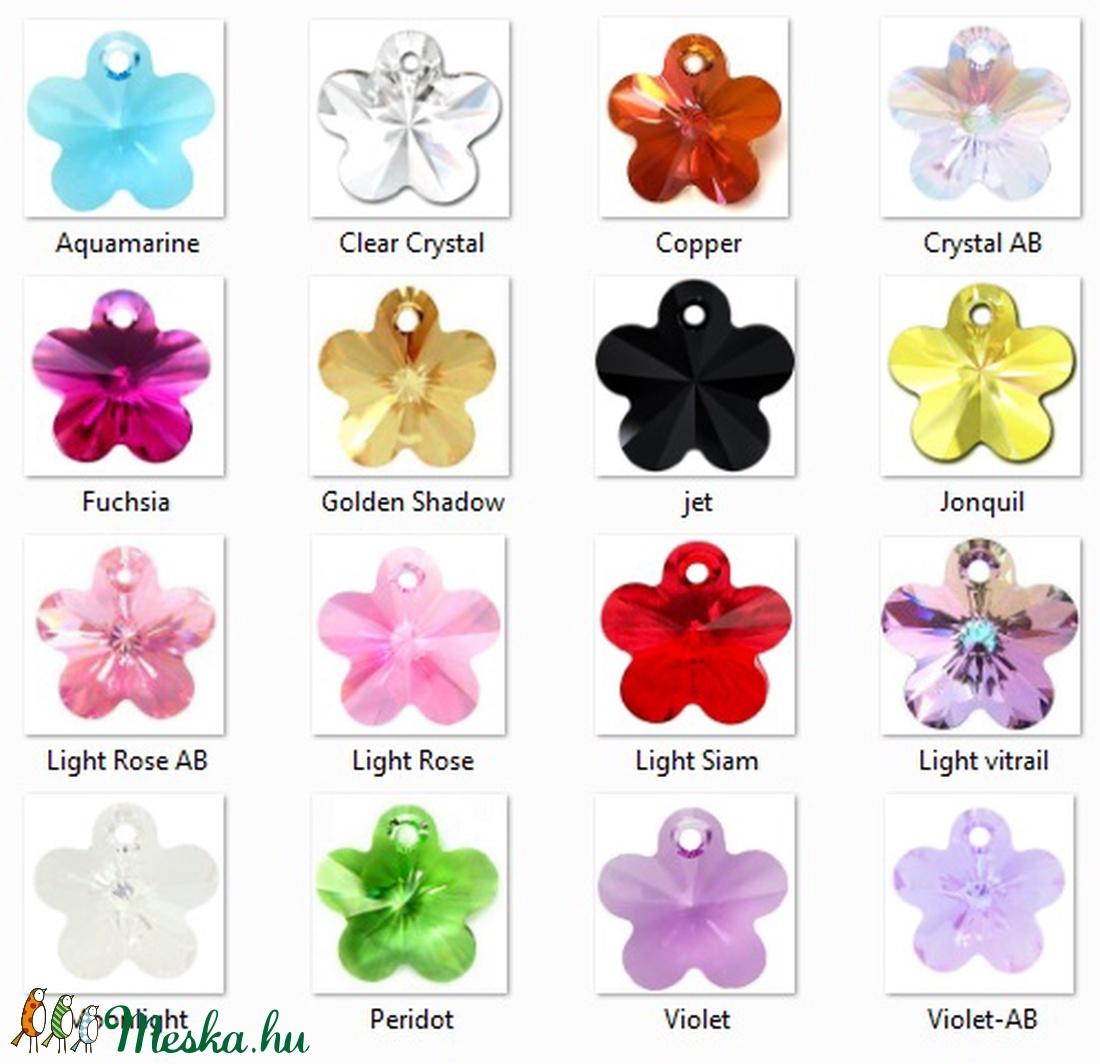 Ékszerkellék: Swarovski virág 18mm-es több színben - gyöngy, ékszerkellék - swarovski kristályok - Meska.hu
