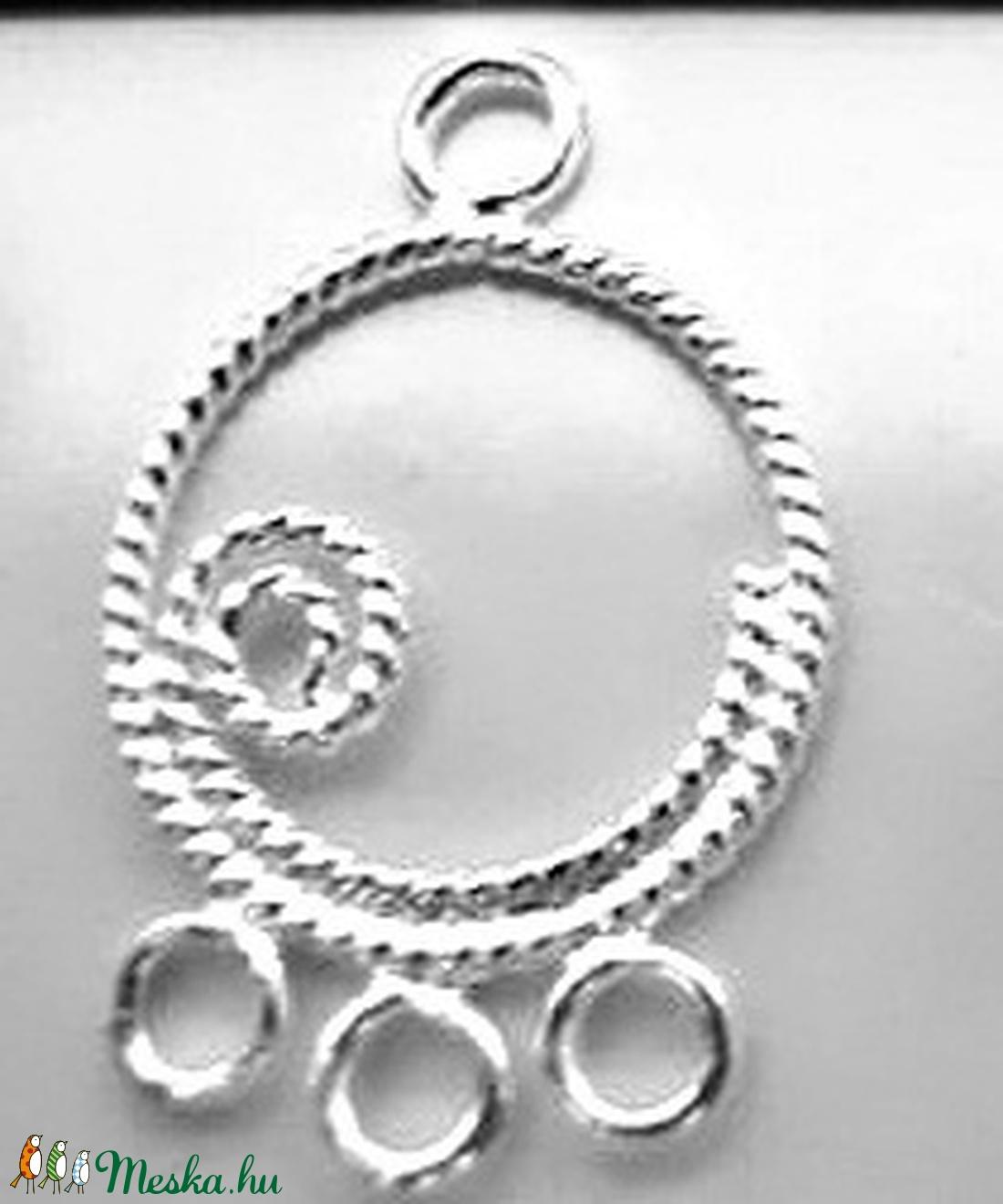 925-ös finomságú sterling ezüst kandeláber/ továbbépíthető köztes /tartó elem  EKA 04 - gyöngy, ékszerkellék - egyéb alkatrész - Meska.hu