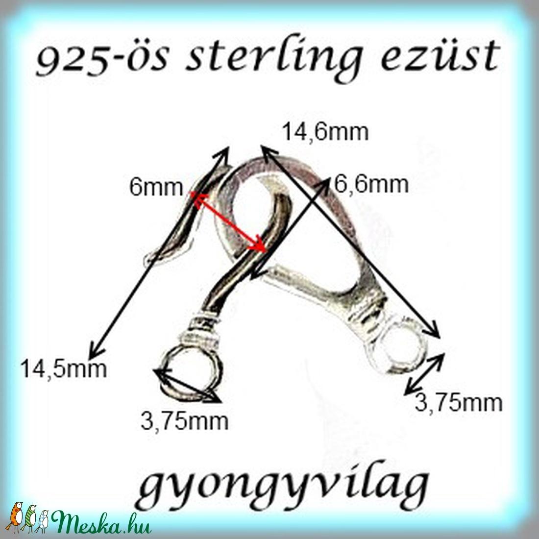 925-ös ezüst 1soros lánckapocs ELK 07 - gyöngy, ékszerkellék - egyéb alkatrész - Meska.hu