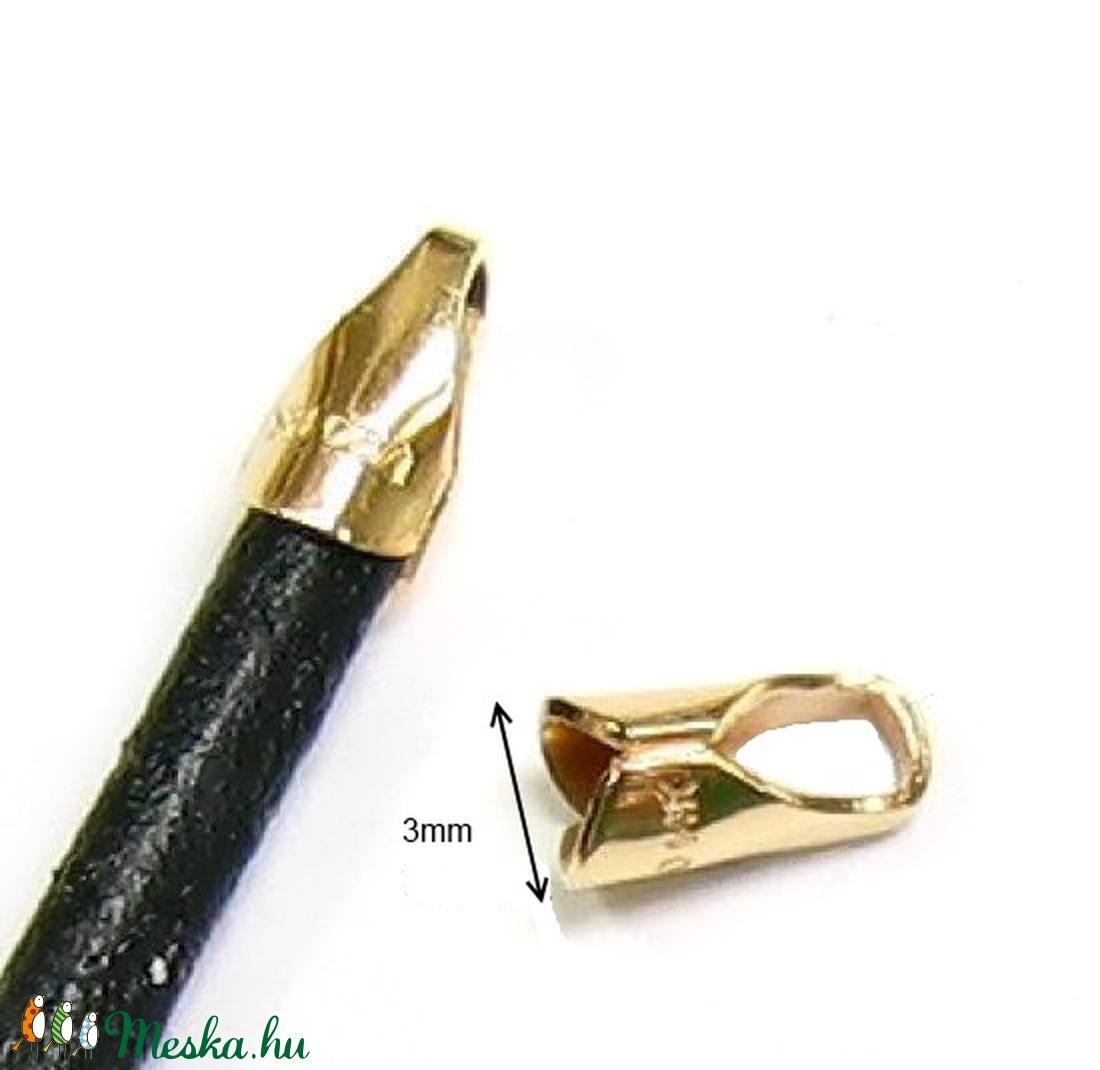 Gold Filled  lánckapocsvég 3mm-es 2db/cs ELK V 06g - gyöngy, ékszerkellék - egyéb alkatrész - Meska.hu