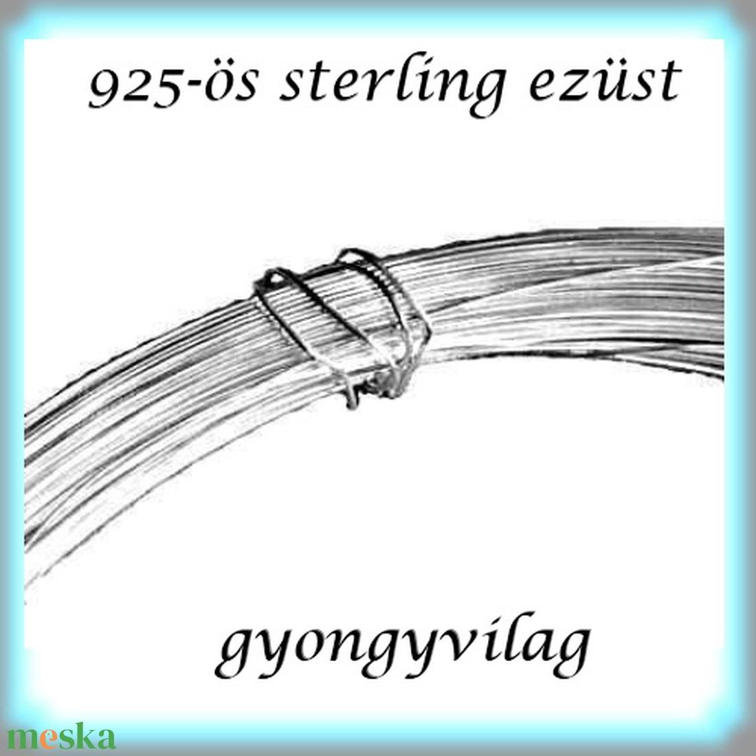 925-ös ezüst huzal EH 0,5mm-es 1cm  - gyöngy, ékszerkellék - egyéb alkatrész - Meska.hu