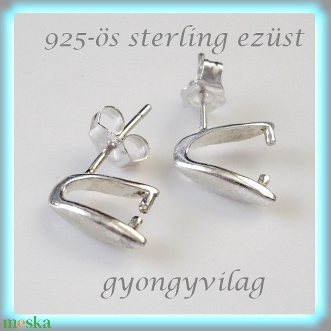 925-ös ezüst fülbevaló kapocs EFK B  18  -1 - gyöngy, ékszerkellék - fém köztesek - Meska.hu