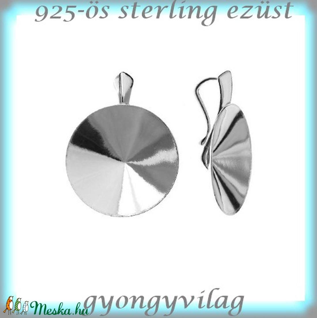 925-ös ezüst medálkapocs EMK 55-18 - gyöngy, ékszerkellék - egyéb alkatrész - Meska.hu