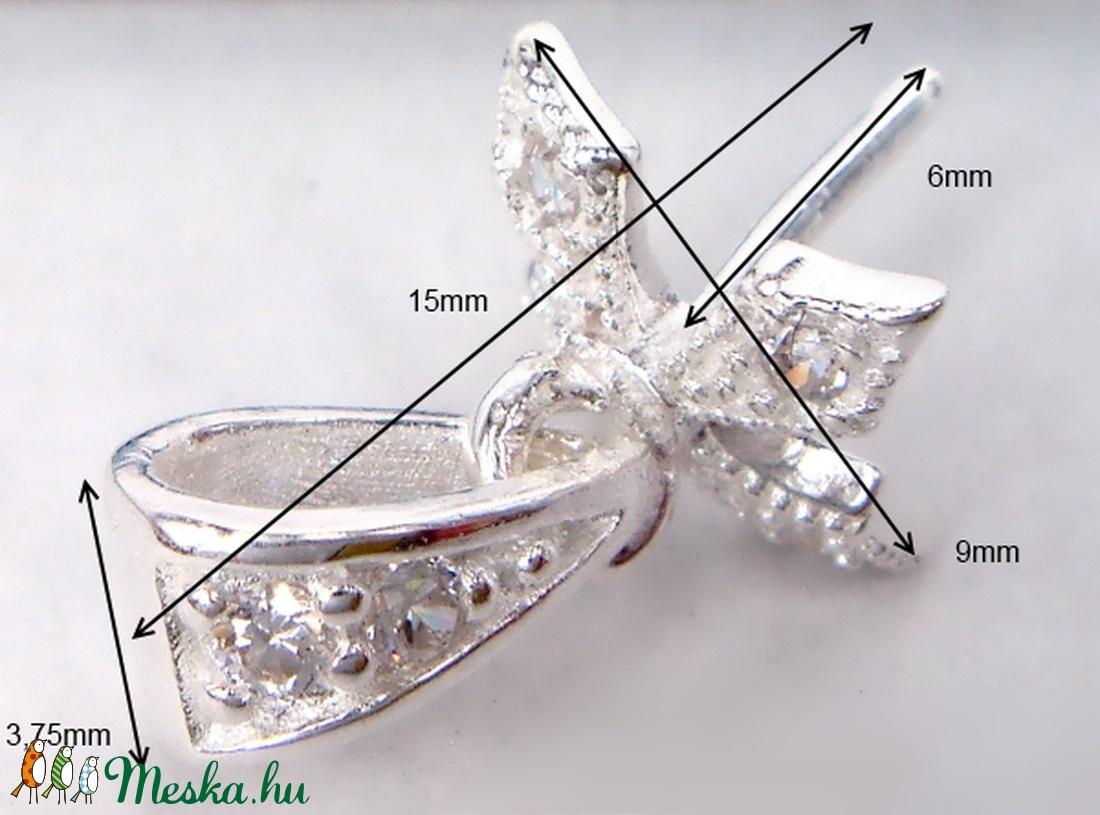 925-ös ezüst medálkapocs EMK 61 - gyöngy, ékszerkellék - egyéb alkatrész - Meska.hu