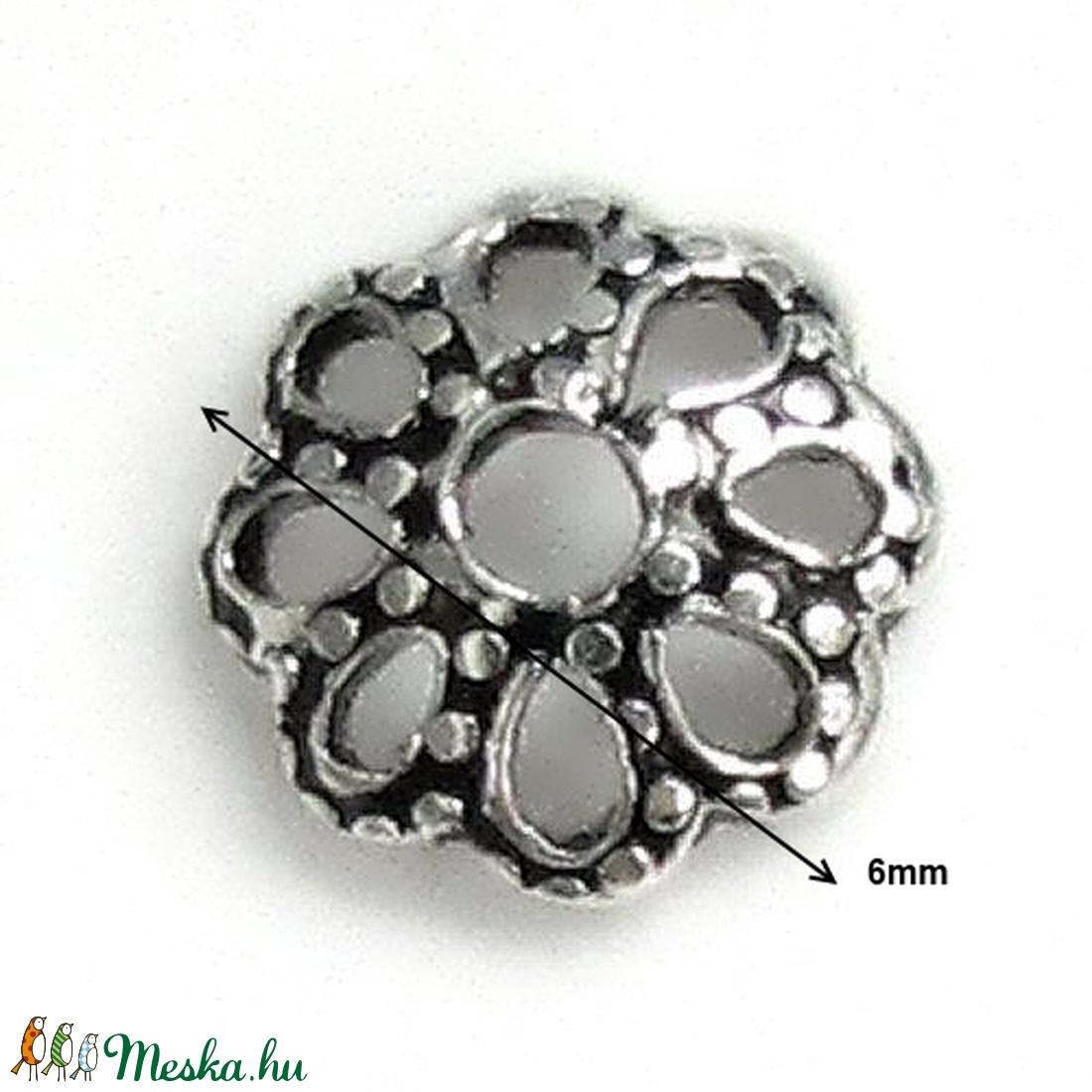 925-ös sterling ezüst gyöngykupak  2db/ csomag  EGYK 22 - gyöngy, ékszerkellék - fém köztesek - Meska.hu