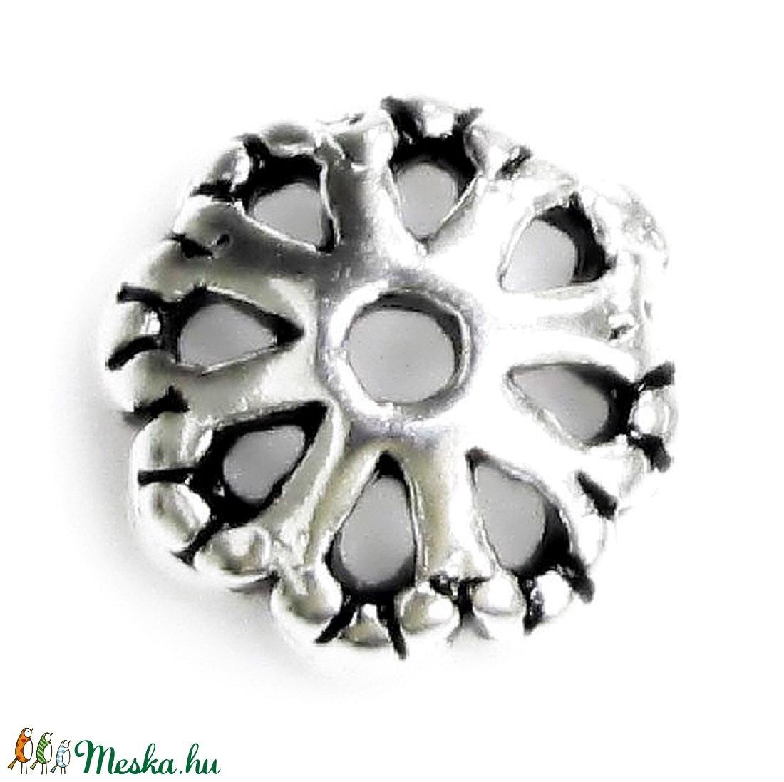 925-ös sterling ezüst gyöngykupak  1db/ csomag  BMCF-02a - gyöngy, ékszerkellék - fém köztesek - Meska.hu