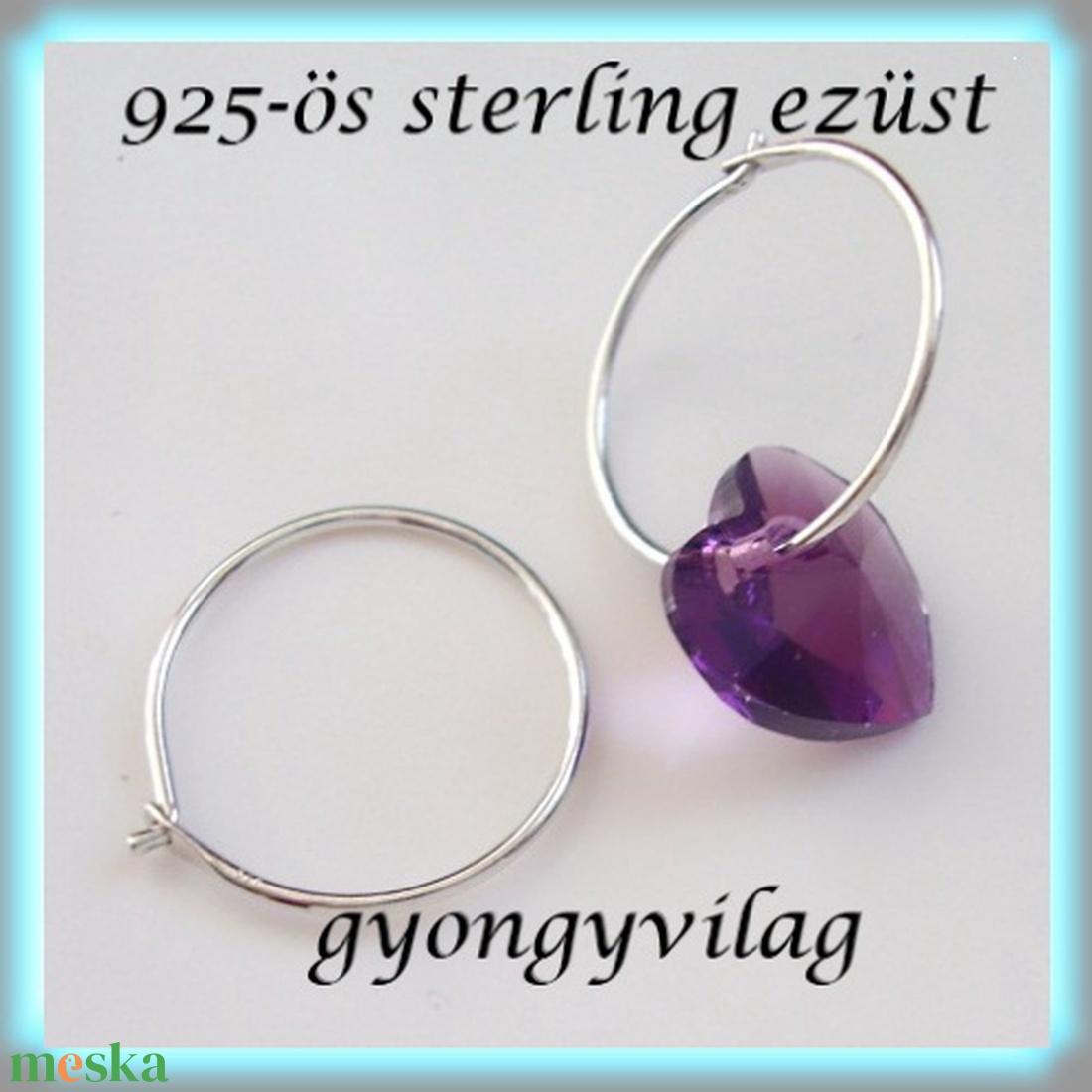925-ös ezüst fülbevaló kapocs biztonsági kapoccsal EFK K 07 - gyöngy, ékszerkellék - egyéb alkatrész - Meska.hu