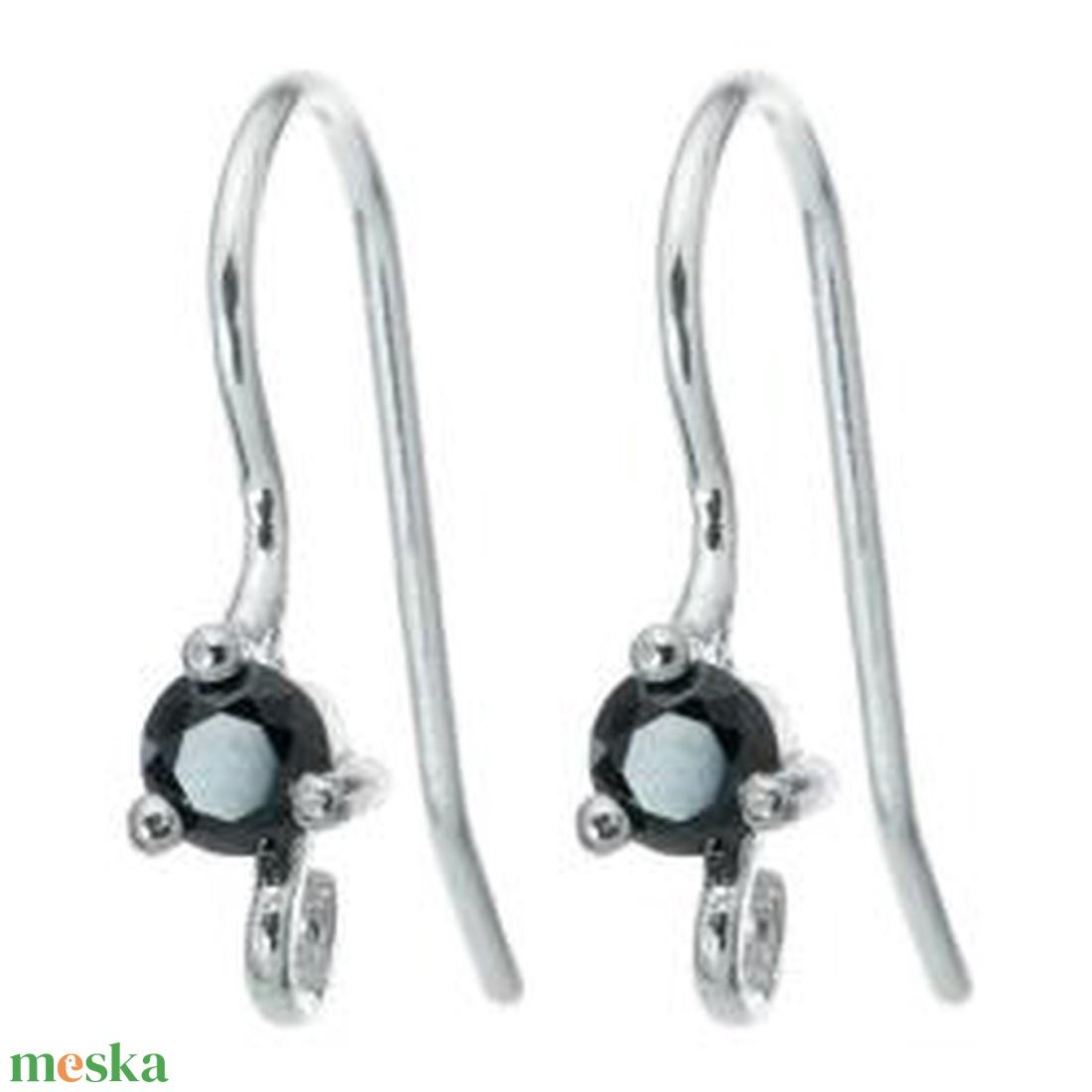 925-ös finomságú sterling  ezüst fülbevaló kapocs EFK A 02 J - gyöngy, ékszerkellék - egyéb alkatrész - Meska.hu