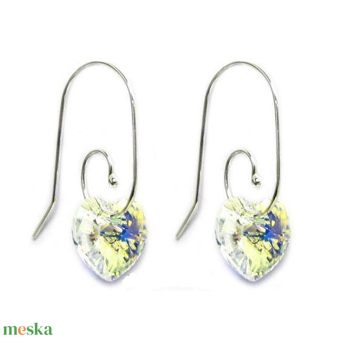 Ékszerek-fülbevalók: Swarovski kristály fülbevaló SFE-SW6228-10-A 53 - ékszer - fülbevaló - lógó fülbevaló - Meska.hu