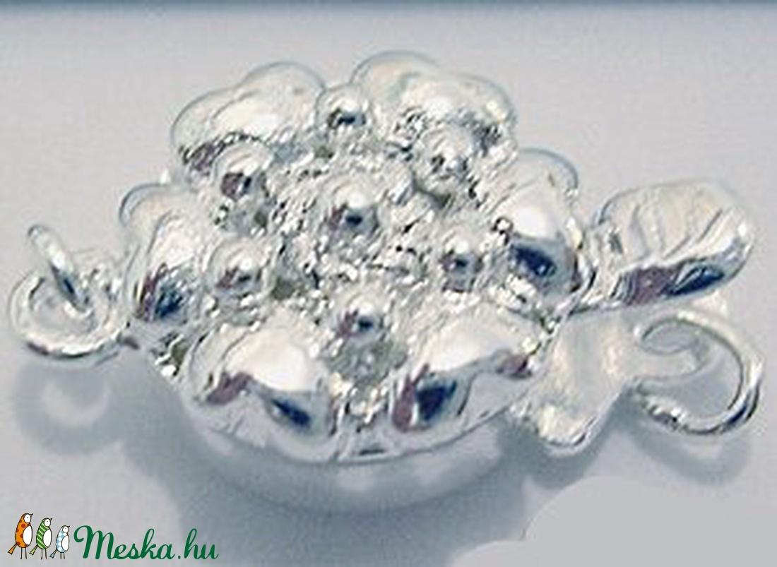 925-ös ezüst 1soros lánckapocs ELK 1S 25 - gyöngy, ékszerkellék - egyéb alkatrész - Meska.hu