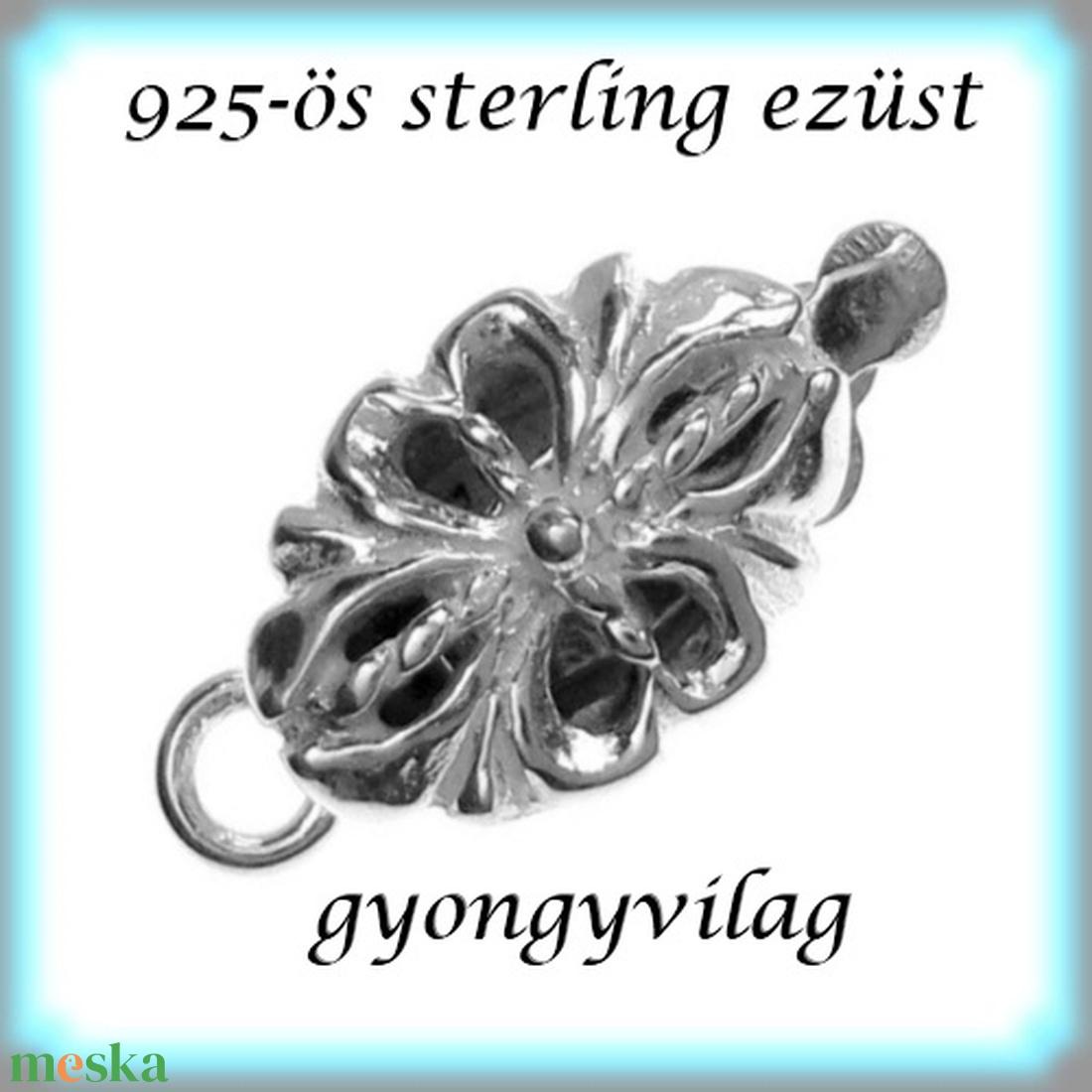 925-ös ezüst 1soros lánckapocs ELK 1S 33 - gyöngy, ékszerkellék - egyéb alkatrész - Meska.hu