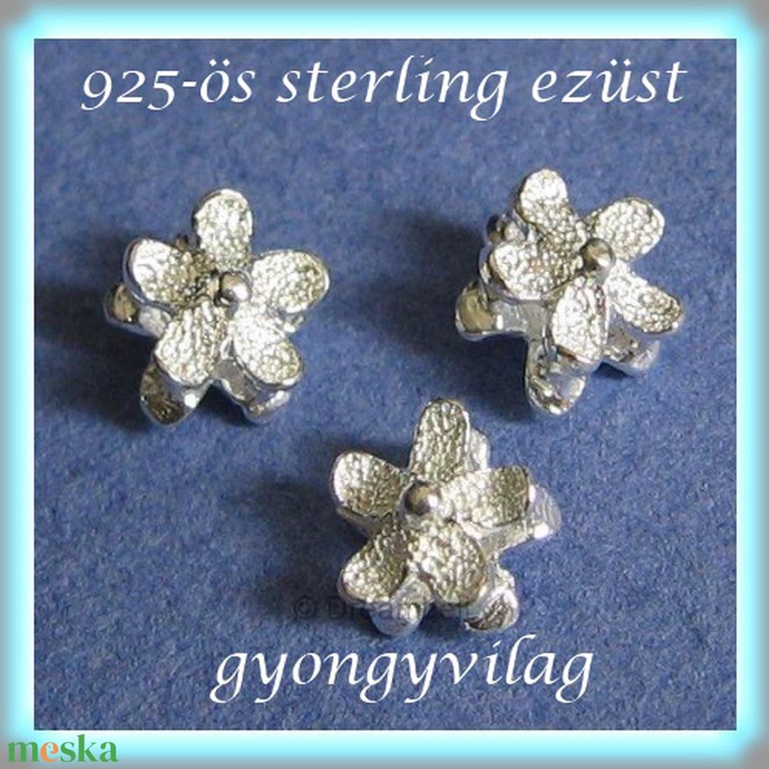925-ös ezüst köztes / gyöngy / dísz EKÖ 72 - gyöngy, ékszerkellék - fém köztesek - Meska.hu