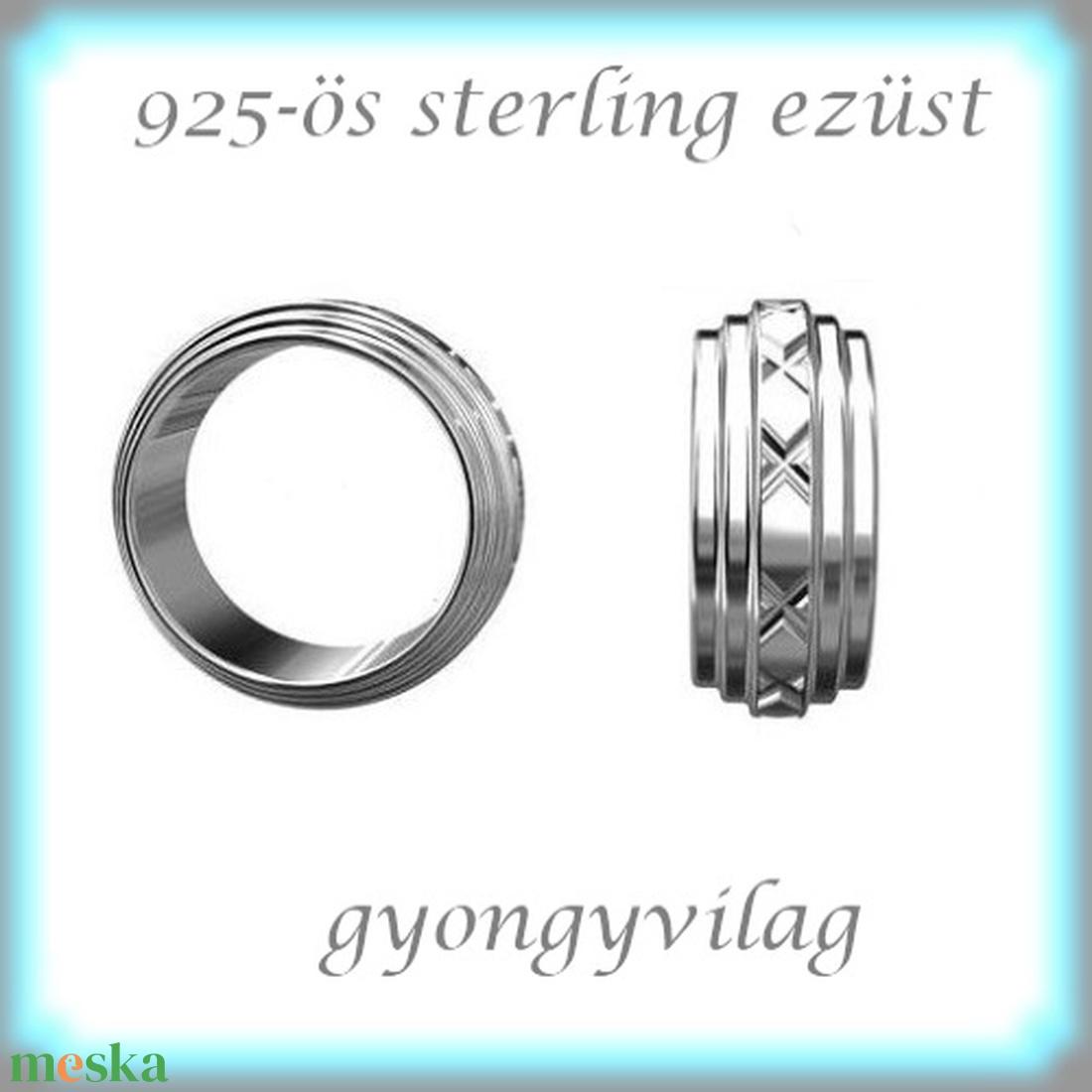 925-ös ezüst köztes / gyöngy / dísz EKÖ 67 - gyöngy, ékszerkellék - fém köztesek - Meska.hu